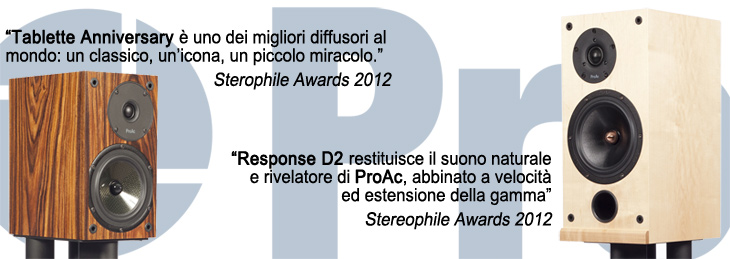 Stereophile Awards 2012 - ProAc Tablette Anniversary e Response D2